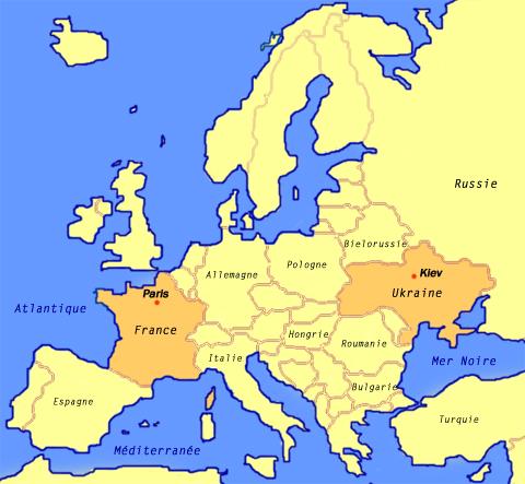 L'Ukraine   Carte Europe