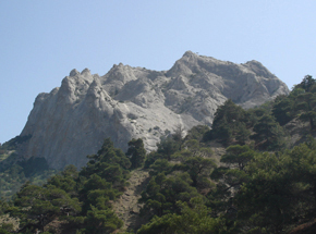 Le mont sokil près de soudak